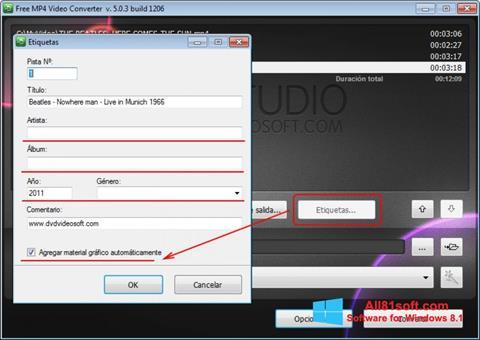 Capture d'écran Free MP4 Video Converter pour Windows 8.1