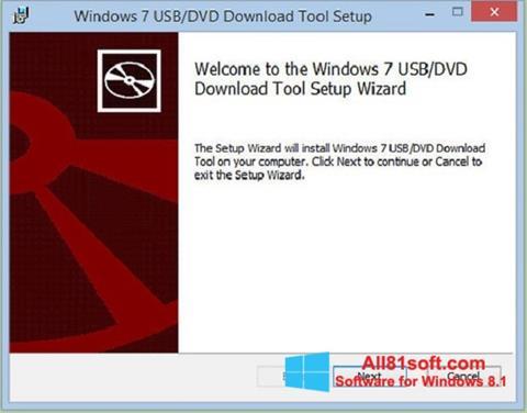Capture d'écran Windows 7 USB DVD Download Tool pour Windows 8.1