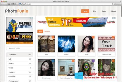 Capture d'écran PhotoFunia pour Windows 8.1
