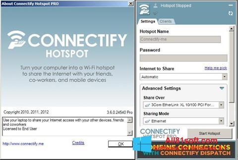 Capture d'écran Connectify pour Windows 8.1