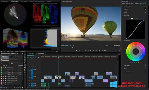 Capture d'écran Adobe Premiere Pro pour Windows 8.1