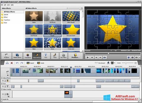 Capture d'écran AVS Video Editor pour Windows 8.1