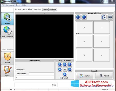Capture d'écran webcamXP pour Windows 8.1