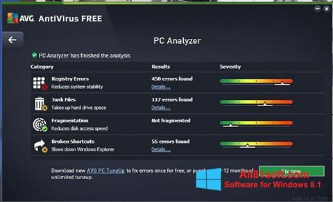 Capture d'écran AVG AntiVirus Free pour Windows 8.1