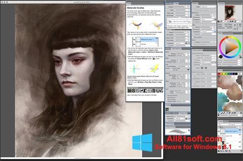 Capture d'écran Corel Painter pour Windows 8.1
