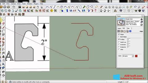 Capture d'écran SketchUp pour Windows 8.1