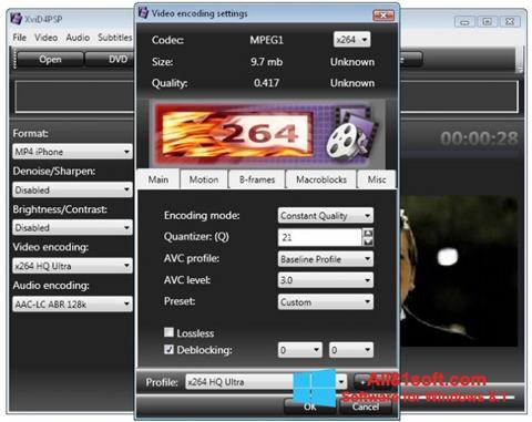 Capture d'écran XviD4PSP pour Windows 8.1