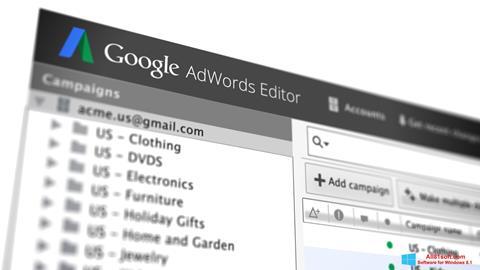 Capture d'écran AdWords Editor pour Windows 8.1