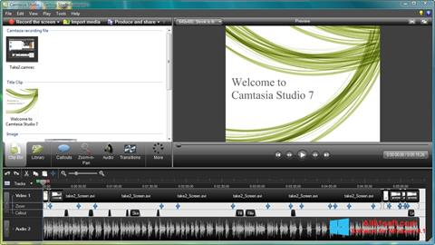 Capture d'écran Camtasia Studio pour Windows 8.1