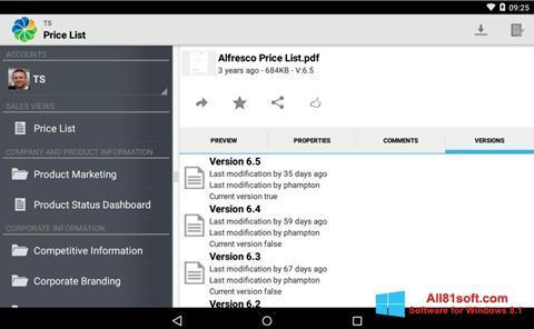 Capture d'écran Alfresco pour Windows 8.1