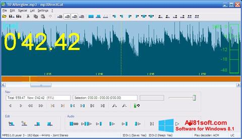 Capture d'écran mp3DirectCut pour Windows 8.1