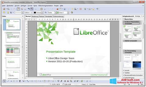 Capture d'écran LibreOffice pour Windows 8.1