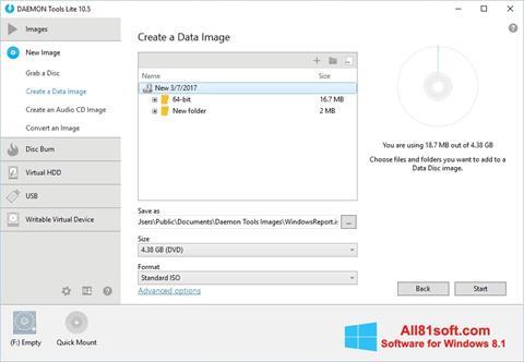 Capture d'écran DAEMON Tools Lite pour Windows 8.1