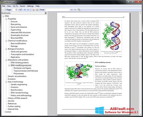 Capture d'écran Sumatra PDF pour Windows 8.1