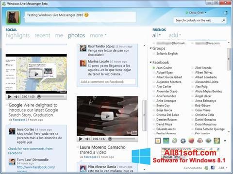Capture d'écran Windows Live Messenger pour Windows 8.1