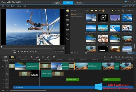 Capture d'écran Corel VideoStudio pour Windows 8.1