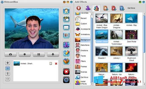 Capture d'écran WebcamMax pour Windows 8.1