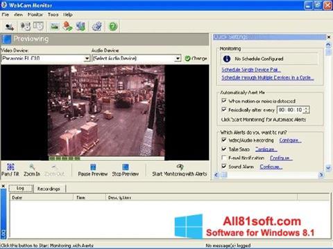 Capture d'écran WebCam Monitor pour Windows 8.1