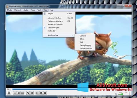 Capture d'écran VLC Media Player pour Windows 8.1