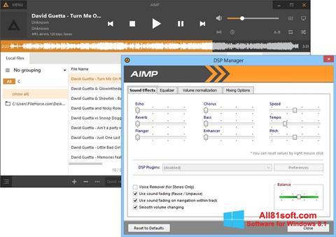 Capture d'écran AIMP pour Windows 8.1