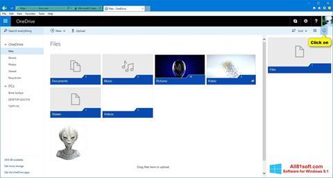 Capture d'écran OneDrive pour Windows 8.1