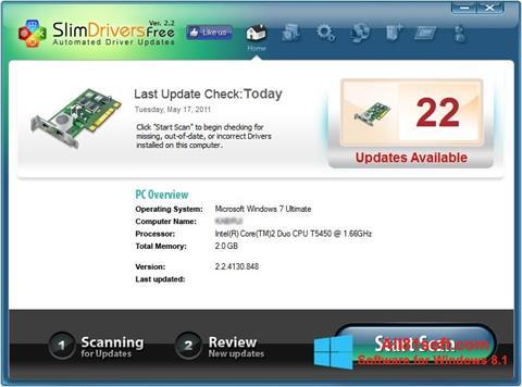 Capture d'écran SlimDrivers pour Windows 8.1