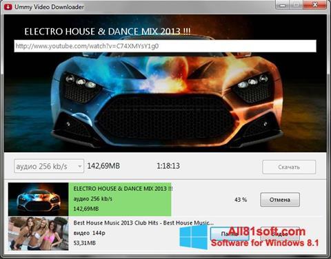 Capture d'écran Ummy Video Downloader pour Windows 8.1