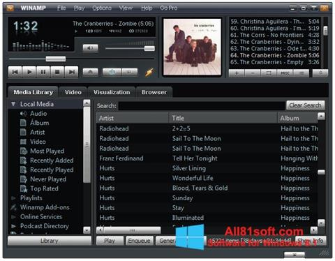 Capture d'écran Winamp pour Windows 8.1