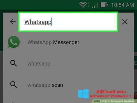 Capture d'écran WhatsApp pour Windows 8.1