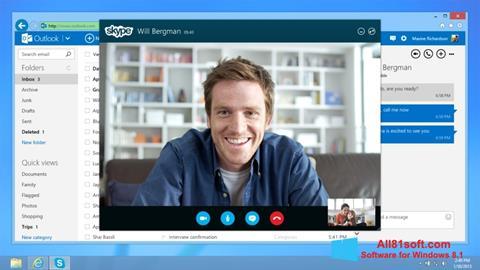 Capture d'écran Skype pour Windows 8.1